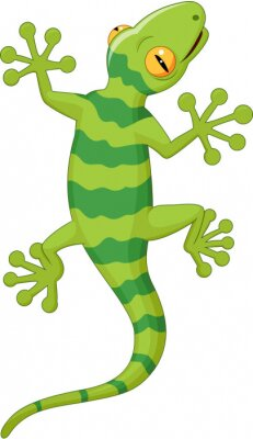 Naklejka Gecko kreskówek
