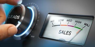 Naklejka Generować więcej potencjalnych klientów i sprzedaży