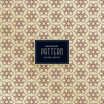 geometric star shape vintage pattern background design
