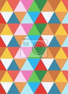 Naklejka geometryczne kolorowe tło