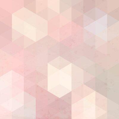 Naklejka Geometryczne tle retro z grunge tekstury