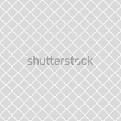 Naklejka Geometryczny abstrakcyjny wzór bez szwu. Klasyczne tło. Ilustracji wektorowych