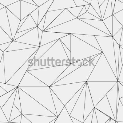 Naklejka Geometryczny prosty czarno-biały minimalistyczny wzór, trójkąty lub witraż. Może być używany jako tapeta, tło lub tekstura.