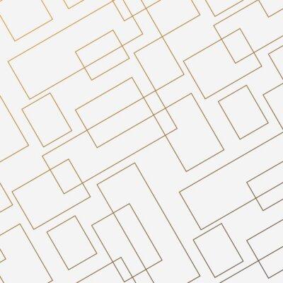 Naklejka Geometryczny wektor wzór, powtarzając cienki liniowy kwadratowy kształt diamentu i prostokąt. Czysty design na malowane tapety ścienne. Wzór jest na panelu próbek