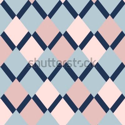 Naklejka geometryczny wzór rombów. wzór geometryczny. etniczne bezszwowe ornament. Abstrakcjonistyczny tło - kolorowe linie. Ilustracji wektorowych.