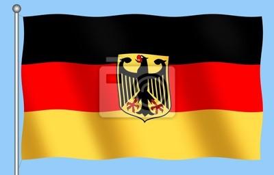 german flag z godłem