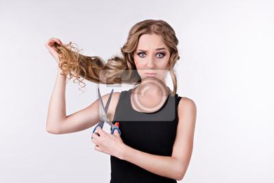 girl long hair cut