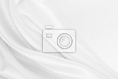 Naklejka Gładka elegancka biała jedwabiu lub atłasu luksusowa sukienna tekstura jako ślubny tło. Luksusowy Bożenarodzeniowy tło lub nowego roku tła projekt