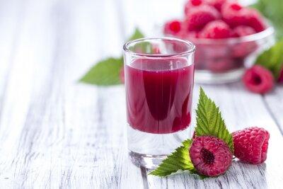 Naklejka Glass with Raspberry Liqueur