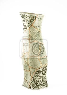 gliny wazon na białym