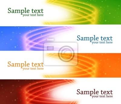 Glossy kolorowy baner. Vector set
