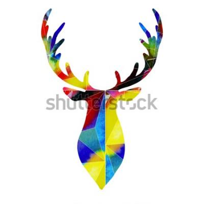 Naklejka głowa jelenia