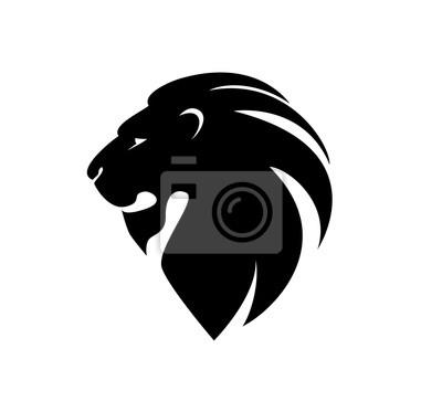 Naklejka Głowa lwa w profilu. Szablon Logo