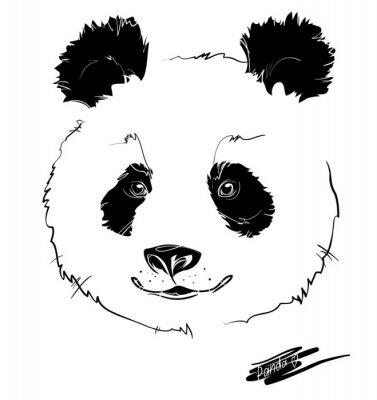 Naklejka głowa pandy