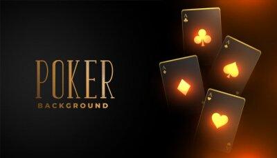 Naklejka glowing casino playing card background