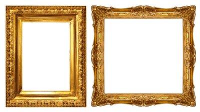 Naklejka gold picture frame
