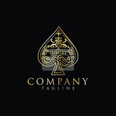 Naklejka Gold Spade Luxury Logo vector
