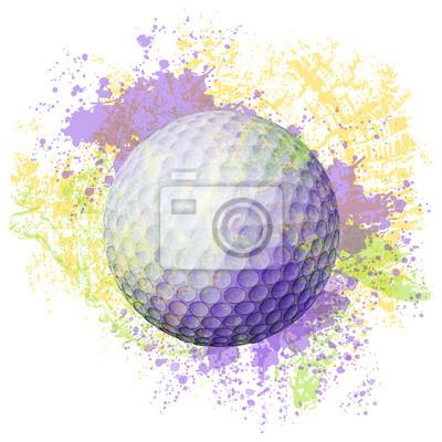 Golf Ball Wszystkie elementy są w oddzielnych warstwach i pogrupowane.