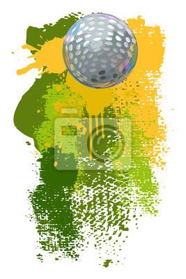 Golf Banner Wszystkie elementy są w oddzielnych warstwach i pogrupowane.