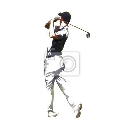 Golf gracz abstrakcyjna geometrycznej wektora sylweta