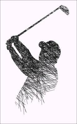Golf - Strich - Ink - 1