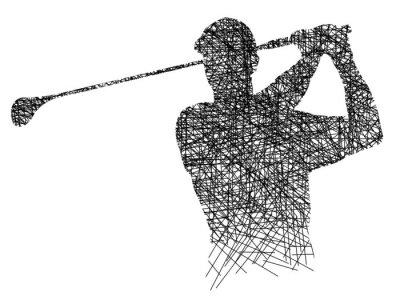 Golf - Strich - Ink - 2