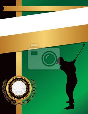 Golf wydruku szablonu tła rysunku