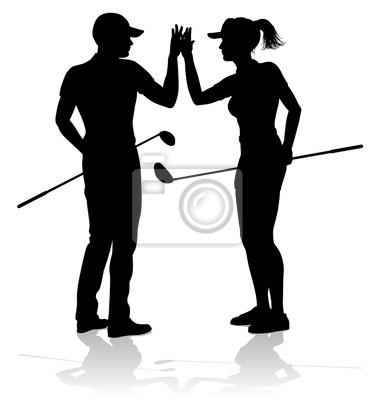 Golfista sport ludzi grających w golfa