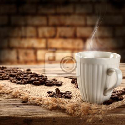 Naklejka Gorąca kawa