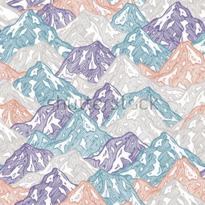 Naklejka Góry bez użycia deseń. Zabawa góry żartują ilustrację. Ilustracji wektorowych