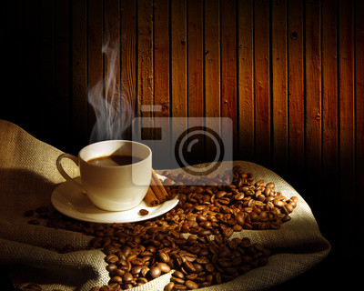 Gotowanie na parze filiżanka kawy