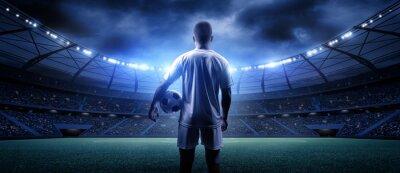 Naklejka Gracz futbolu na stadionie