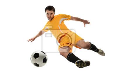 Gracz Kicking Soccer Ball