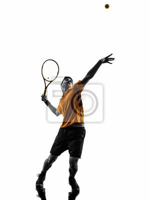 gracz w tenisa mężczyzna sylwetka usług obsługujących