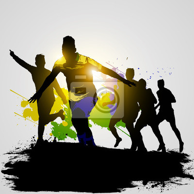 gracze soccer świętuje 02 grunge
