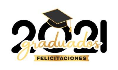 Naklejka graduados clase 2021