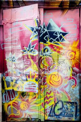 Naklejka Graffiti coloré sur une porte