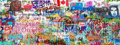 Naklejka Graffiti Panorama