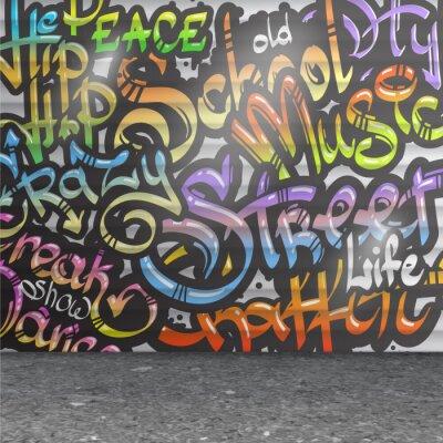 Naklejka Graffiti ściana w tle