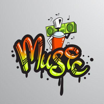 Naklejka Graffiti słowo postaci wydruku