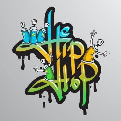 Naklejka Graffiti znaki słowne druku