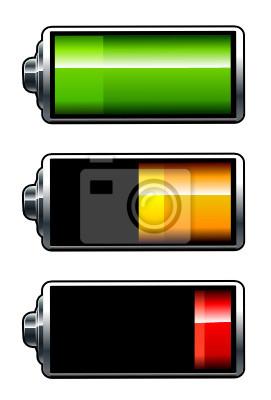 Grafika. Ikony baterii Wszystkie elementy są grupowane.