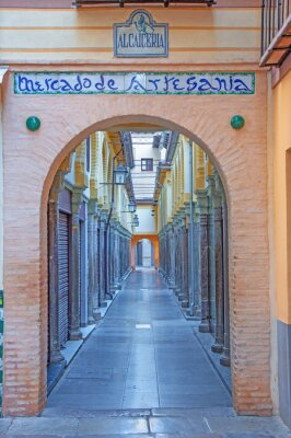 Naklejka Granada - Rynek Alcaiceria rano
