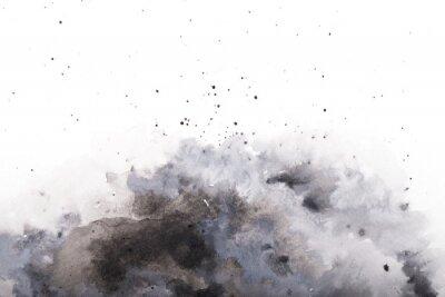 Naklejka  gray watercolor