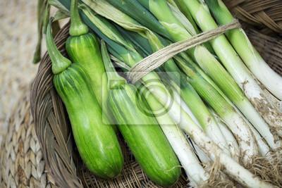 Naklejka green onion and green pumpkin
