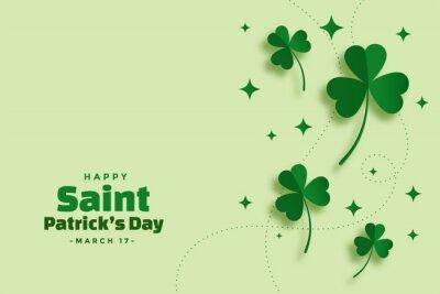 Naklejka green saint patricks day festival elegant banner