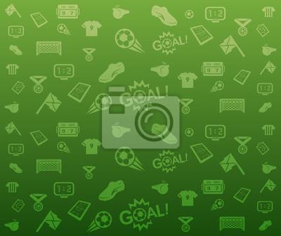 Green seamless soccer background