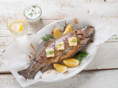 Naklejka Grillowana ryba