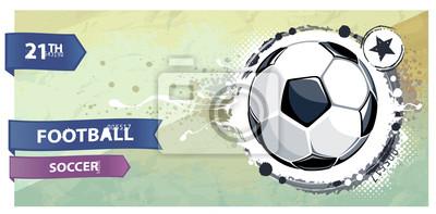 Grunge ilustracji piłka nożna.