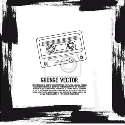 grunge kasetę